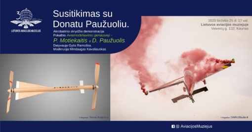 Donato Paužuolio aviamodeliai skraidys tarp aviacijos muziejaus eksponatų