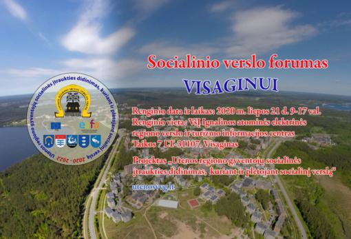 Socialinio verslo forumas Visaginui