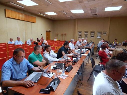 Pirmajame pokarantininiame tarybos posėdyje – kovingai nusiteikusi opozicija