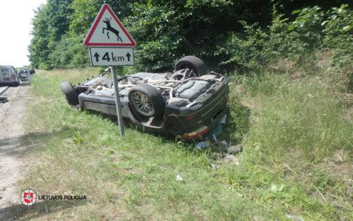 Kauno rajone 81-erių vairuotojas sukėlė eismo įvykį