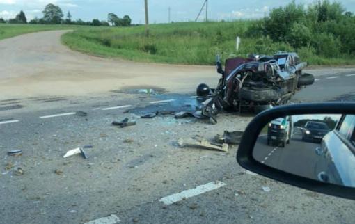 Trakų rajone – motociklo avarija