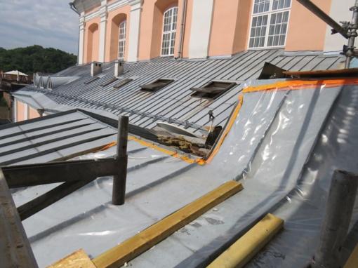 Gaisras rimtos žalos bažnyčiai nepadarė