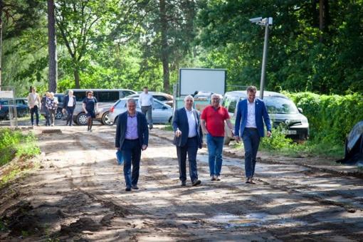Vičiūnų vandens gerinimo įrenginių statybomis domėjosi Kauno vadovai bei Aplinkos ministras