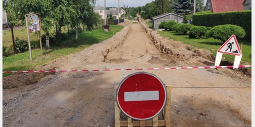 Paobelyje pradėta Obelies gatvės rekonstrukcija