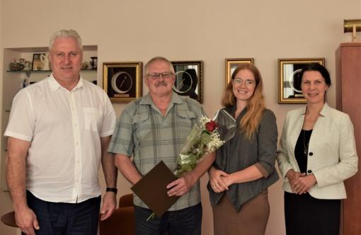 Šiekštininkų bendruomenės pirmininkui Edmundui Styrai įteiktas mero padėkos raštas
