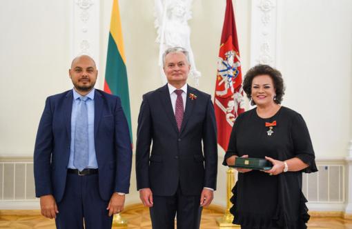 Prezidentas G. Nausėda įteikė Valstybės apdovanojimus