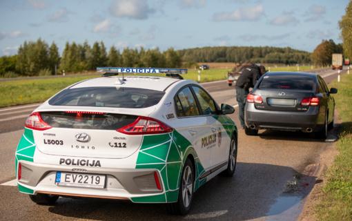 Palangoje greičio viršytojai fiksuojami patruliuojant ir ekologiškuoju elektromobiliu