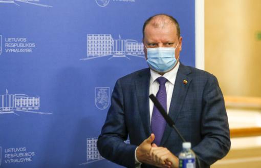 S. Skvernelis vėl prakalbo apie privalomas kaukes: jeigu norime grįžti į kovo situaciją – būkime toliau atsipalaidavę