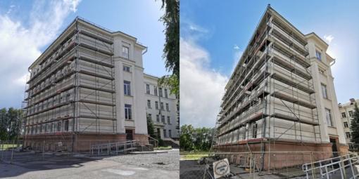 Prasidėjo Jurbarko Antano Giedraičio-Giedriaus gimnazijos pastato atnaujinimo darbai