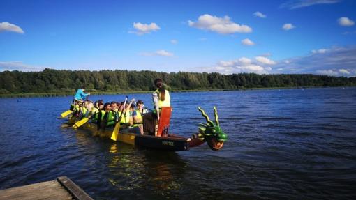 """Šiauliai COVID-19 savanoriams dėkoja """"ant"""" vandens"""