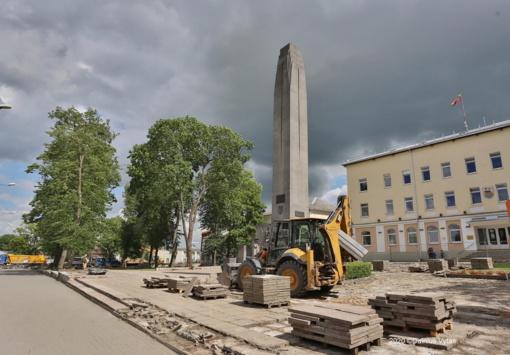 Miesto centro erdvėse – paskutinis darbų etapas