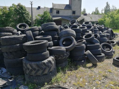 Iš Širvintų rajono išvežta 60 tonų padangų