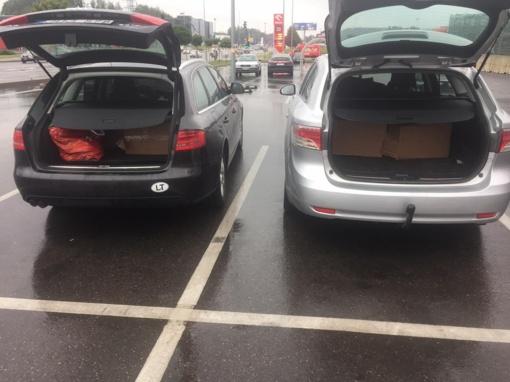 Kaune Pagėgių pasieniečiai sulaikė kontrabandinį rūkalų krovinį ir du vyrus