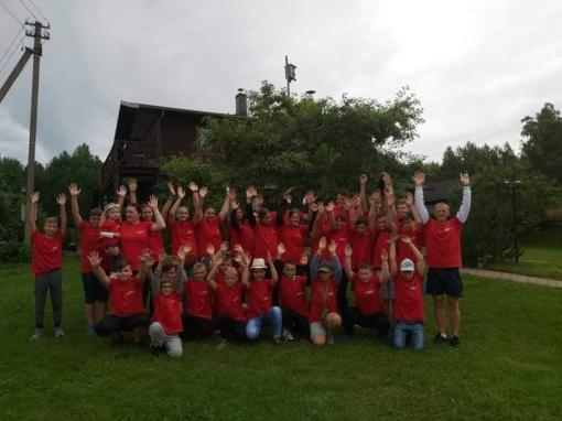 """Raudondvario ir Neveronių dziudo sportininkų vasaros stovykla """"Sportuokime ir būkime sveiki"""""""