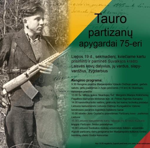 Tauro  partizanų apygardai 75-eri
