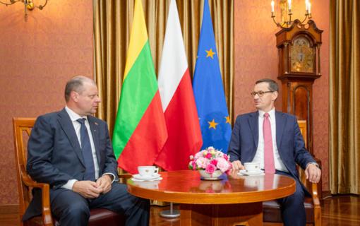 Lietuvos ir Lenkijos premjerai aptarė šalių strateginę partnerystę