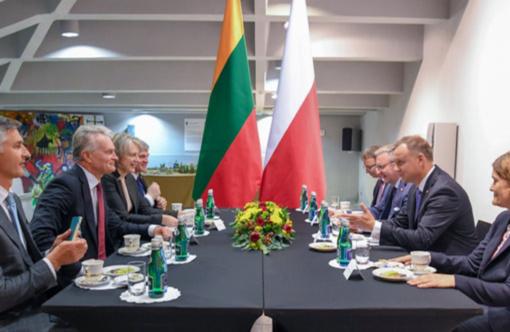 G. Nausėda su Lenkijos prezidentu aptarė saugumo ir gynybos klausimus