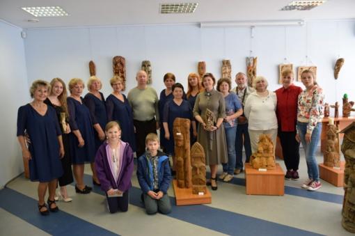 Šilalės Vlado Statkevičiaus muziejuje buvo pristatyta drožinių paroda