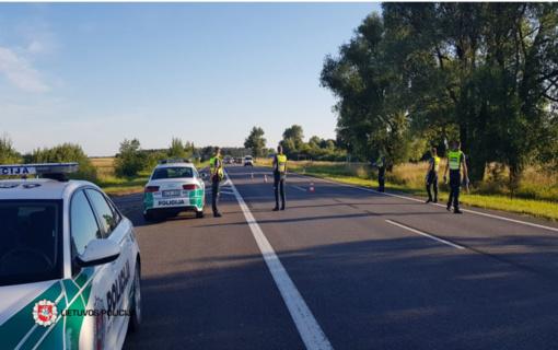 Reidas magistraliniame kelyje A13 Klaipėda–Liepoja