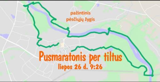 Pusmaratonis pėsčiomis per mažus ir didelius Alytaus tiltus – jau kitą savaitgalį