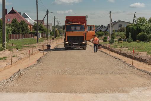 Tauragėje vyksta gatvių remonto darbai
