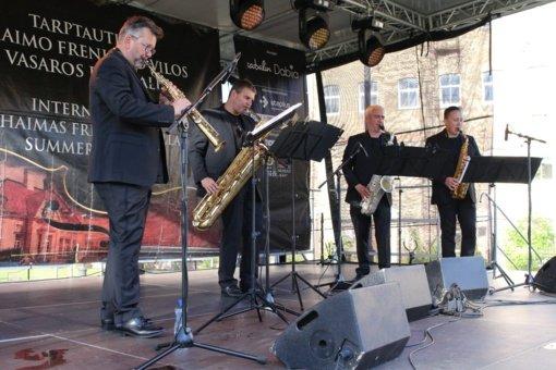 Iš Vokietijos atvykęs saksofonų kvartetas džiaugėsi galimybe koncertuoti Šiauliuose
