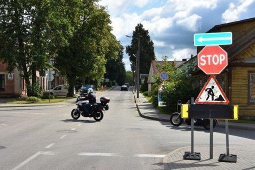 Utenoje pradedama tvarkyti Tauragnų gatvė