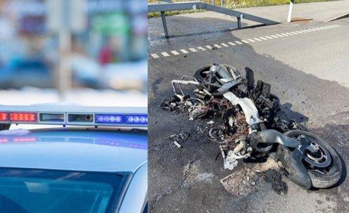 Policija prašo padėti nustatyti žuvusio motociklininko tapatybę