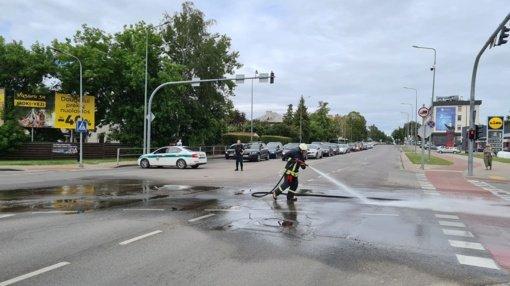 Nesklandumai formuoja spūstis Pramonės-Tilžės gatvių sankryžoje