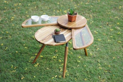 Vabzdžio formos staliukas – idėja iš gamtos