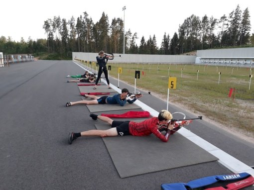 Biatlono treniruočių stovykla Maduonoje