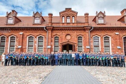 Raudondvario dvare vyko Lietuvos policijos mokyklos baigimo pažymėjimų įteikimo šventė