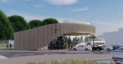 Naujoji Gargždų autobusų stotis – vizija, virstanti kūnu
