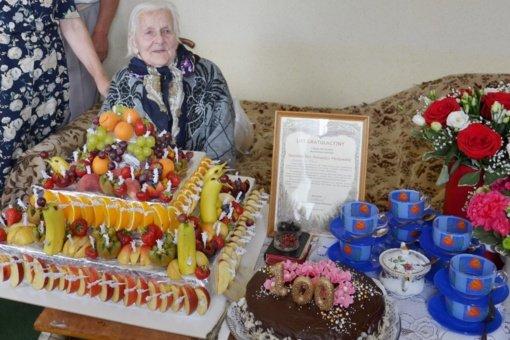 Pasveikinta šimtametė Sudervės seniūnijos gyventoja