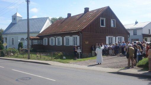 Žemaičių Naumiestyje pagerbtas šviesuolis Frydrichas Megnius