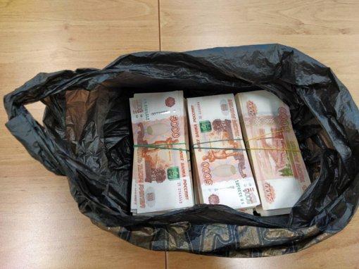 Medininkuose sulaikyta 200 tūkst. eurų ir 3 mln. rublių grynųjų pinigų kontrabanda (vaizdo įrašas)