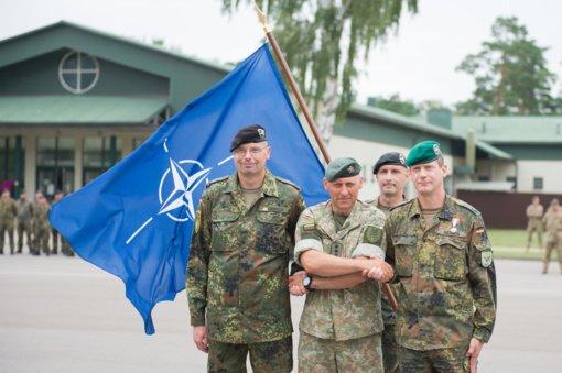 """R. Karoblis:  """"Mūsų tikslas – padaryti NATO priešakinių pajėgų batalioną efektyviomis jungtinėmis pajėgomis"""""""