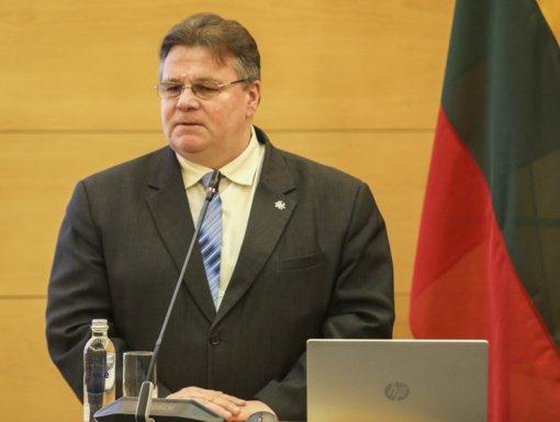 L. Linkevičius: esame susirūpinę dėl galimo Baltarusijos valdžios smurto prieš opoziciją