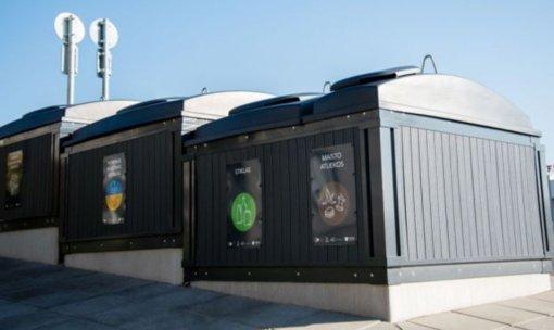 Elektrėnų miesto gyventojai jau gali mesti atliekas į naujai įrengtus konteinerius