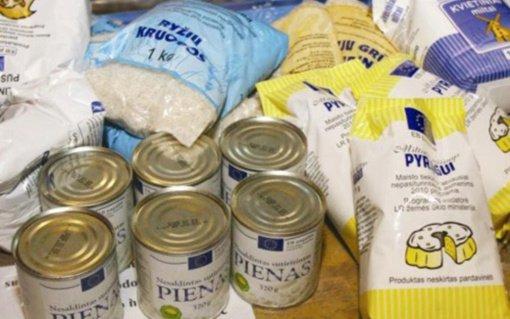 Paramos gavėjams – labdara maisto produktais