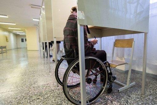 Įvyko pasitarimas dėl balsavimo patalpų pritaikymo neįgaliesiems
