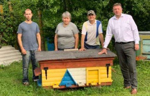 Aplankyta rajono bitininkų šeima