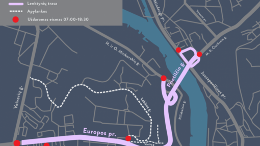 Artėja Kauno dviračių lenktynės: daugiau erdvės sportininkams ir laikini automobilių eismo ribojimai
