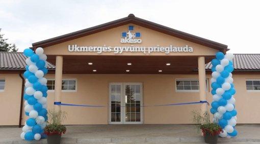 Ukmergės rajone atidaryta nauja gyvūnų prieglauda