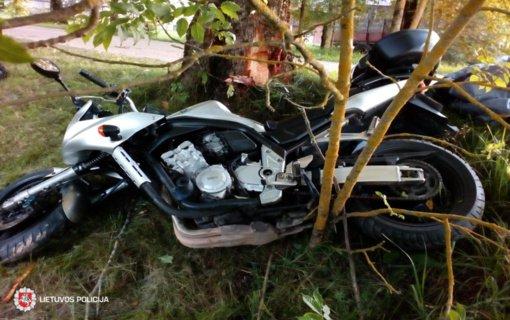 Skuodo rajone vyras nesuvaldė motociklo