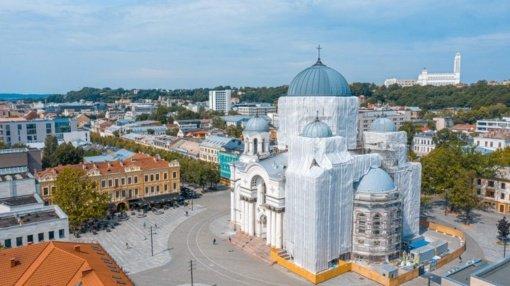 Atsinaujina vienas ryškiausių Kauno architektūrinių akcentų – Soboras