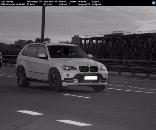 Kaune užfiksuotas daugiau nei dvigubai leistiną greitį viršijęs BMW