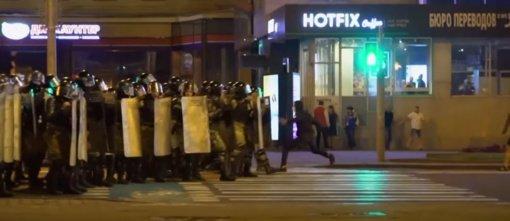 Baltarusijos VRM: per protestus po rinkimų sužeista beveik 100 žmonių, apie 3 000 suimta