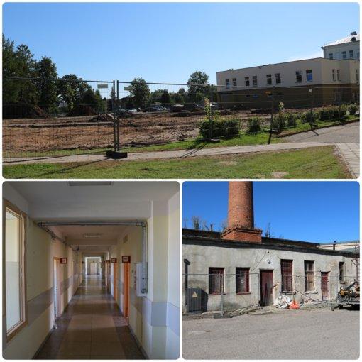 Respublikinė Šiaulių ligoninė atsinaujina – nuo birželio mėnesio pradėti vykdyti trys svarbūs statybų ir remontų projektai