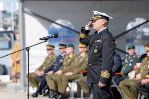 Klaipėdoje įvyko Karinių jūrų pajėgų vado pasikeitimo ceremonija